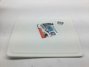 Dexas NSF Polysafe Pastry Cutting Board with Well 15 by 20 inches White