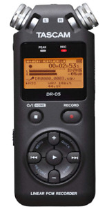 Tascam DR 05 Stereo Portable Digital Audio Recorder $58.00
