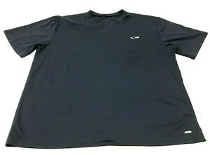 Champion Dry Fit Shirt Mens Size Large L Adult Navy Blue Short Sleeve Gym Tee $18.77