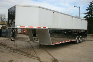2007 Samp;S Welding Gooseneck 32#x27; Enclosed Trailer Heavy Duty Stainless w Ramp