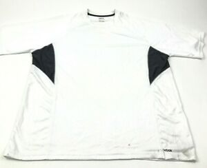 Reebok Dry Fit Shirt Mens Size Large L Adult White Tee Short Sleeve Performance $15.95