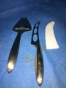 Pampered Chef Cheese Knife And Slicer Set Stainless Steel