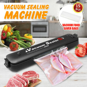 Automatic Vacuum Food Sealer For Dry amp; Moist Food Saver with 15 Pcs Saver Bags $19.99
