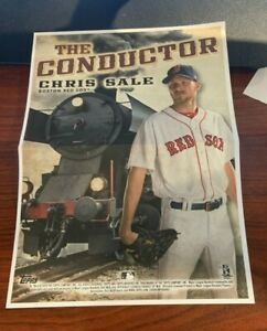 2020 Archives Box Topper Mini Poster Chris Sale The Conductor Boston Red Sox $6.50
