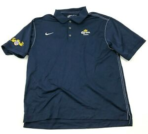 Nike Golf Corona Extra Polo Dry Fit Shirt Size Extra Large XL Blue Short Sleeve $28.77