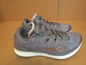 WOMENS SAUCONY EVERUN FREEDOM ISO GRAY BRONZE WHITE RUNNING SHOES SIZE 7M A313 $29.99