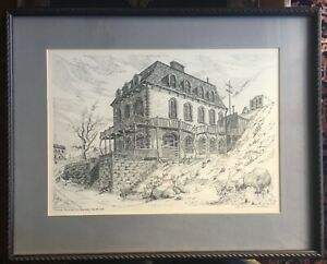 Pen amp; Ink Original Drawings By Thelma Calhoun. Two Drawings 22.5quot;x18quot; Framed $650.00
