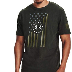 Under Armour Mens Freedom Flag Front Short Sleeve T Shirt. Baroque Green $19.95