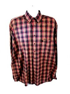 Knights Sportswear Mens XLT Long Sleeve Button Front MultiColor Plaid Shirt $16.80
