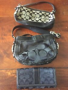 3 COACH purse and wallet lot