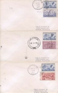 3c LAFAYETTE Set of 3 covers with Lafayette city cancels $5.99