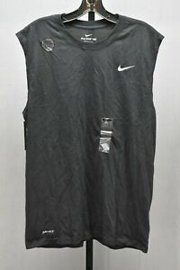 Nike Dry Tee Training Sleeveless Solid Tank Mens Size L Black NEW $25.00