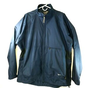 Nike XL Water Resistant Vented Blue Rain Jacket Golf Running Wind Breaker $19.72