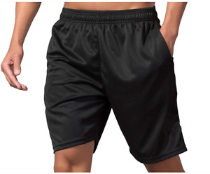 Mens Workout Shorts With Zipper Pockets Breathable Dry Fit Shorts For Training R $17.99