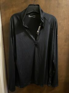 Women's Under Armour XL Loose Fit Heat Hear Black With Partial Zip NWT Retail 49 $17.99