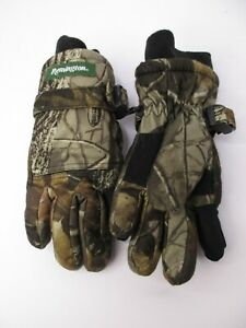 Remington Youth Hunting Gloves Thermal Insulation RealTree Hardwoods Camo A2
