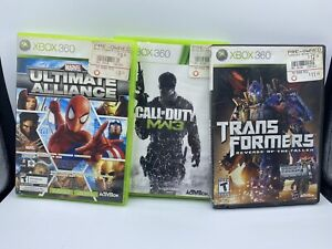 Call Duty Ultimate Alliance Angry Birds Xbox 360 Five Game Lot TESTED $25.00