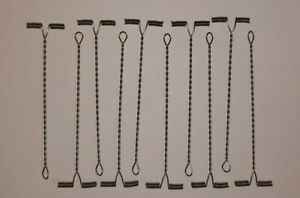 SEA FISHING: 10 X 8cm STAINLESS T ARM WIRE SKELTOR STYLE BOOMS