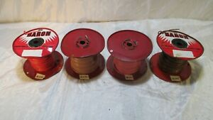 Baron E22337 Hook Up Lead Wire 16 AWG Single Conductor Lot of 4 Bulk Spools $55.00