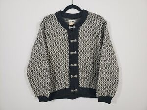 LL Bean Wool Blend Cardigan Sweater Made In Norway Womens Size Small $39.99