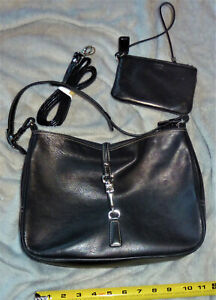 COACH PURSE with matching Clutch Black Leather Hobo