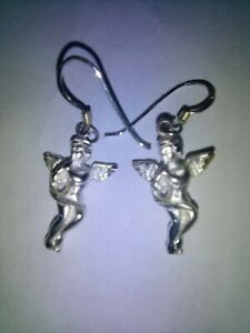Sterling Silver Angle Earrings Marked 925 $11.90