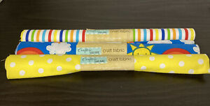 """Crafter's Square Fabric 20""""x21"""" 100% Cotton Fabric Summer Fun Polka Dots Strip $10.36"""