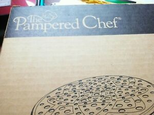 PAMPERED CHEF MICROWAVE CHIP MAKER SET OF 2 #1241 new never used OPEN BOX