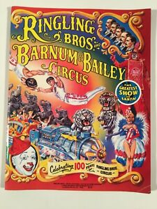 Ringling Brothers Barnum Bailey Circus Program 1984 100 Years $8.99