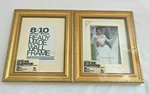 Two Genuine Hardwood 8x10quot; Gold Milano Ornate Frames w Matting for 5x7quot; Picture $29.99