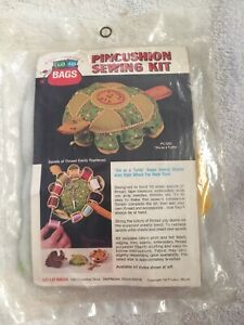 """Lo Lo Bags quot;Slo As A Turtle"""" PC 520 Pin Cushion Sewing Kit Vintage 1977 Sealed $29.99"""