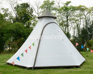 Outdoor 4 Person Fast Build Indian Tent Anti Hard Rain Wind Proof Pyramid Teepee $249.99