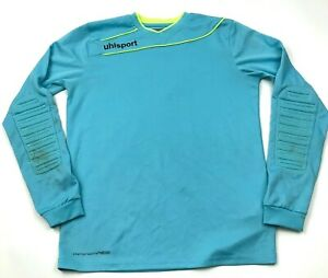 UulSport Goalie Soccer Jersey Size Small Blue Dry Fit Shirt Long Sleeve Padded $15.95