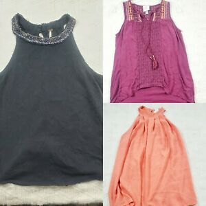 Womens Clothing Lot free people knox rose Tops Lot Of 3 Boho Casual blouses $15.00