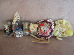 Vintage Original Fur Toys made in W. Germany lot of 6 mice $25.00