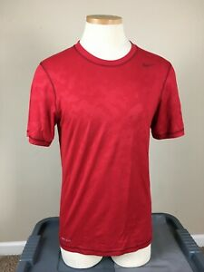 Nike Dri Fit Red Camo Athletic Workout Training Gym T shirt Men's Size S $9.99
