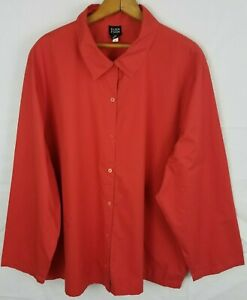 Eileen Fisher Button Down Cotton Top Womens Size 3X Boxy Lagenlook Blouse $34.99