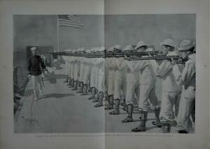 Antique Original Large The Steamship Wilmington Spanish American War Art 1899 $25.00