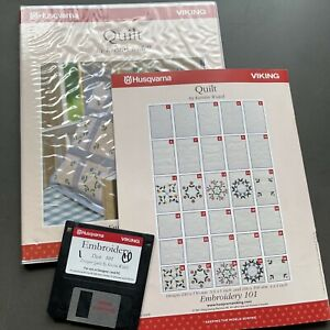 HUSQVARNA VIKING MACHINE EMBROIDERY DISK #101 QUILT EMBROIDERY $49.99