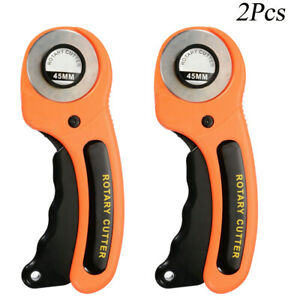 2Pcs Rotary Cutter 45mm Blade Sewing Quilters Fabric Leather Craft Cutting Tool $10.86
