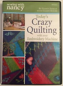 Sewing With Nancy DVD Today#x27;s Crazy Quilting with your Embroidery Machine $14.97