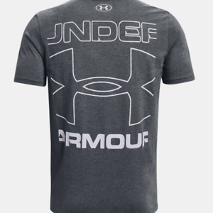 Under Armour Mens UA Branded Crop Short Sleeve T Shirt.Pitch Gray Style 1352044 $17.95