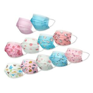 10 20 30 50 KIDS TODDLERS Face Mask Mouth Nose Protector Respirator Filter LOT $19.99