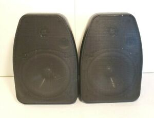 NXG Technology Indoor Outdoor Weather Resistant Speakers NX 525B Wired Tested $21.99