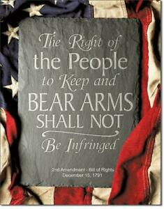 2nd Amendment Right Metal Tin Sign 12.5quot; x 16quot; 2364 $9.99