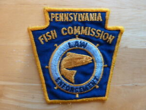 Vintage used PA FISH COMMISSION LAW ENFORCEMENT OFFICER PATCH