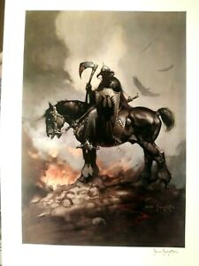 FRANK FRAZETTA S N LIMITED EDITION LITHOGRAPH OF DEATH DEALER 20x27.75quot; MINT $2499.00