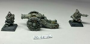 Warhammer Dwarf Cannon and Crew Metal OOP