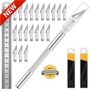 Kit Exacto Knife Set Blades Refill Xacto For Leather Craft Pen Cutter Razor New $7.49