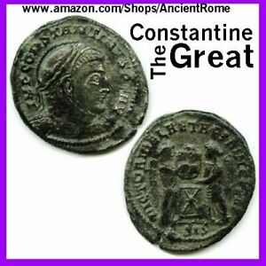 Constantine the Great Imperial Roman Empire Bronze Coin with Certificate of... $15.99